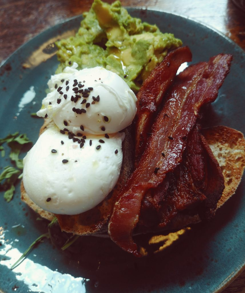 Eggs, Bacon and Smashed Avo. What more do you want? Oh, sourdough right.